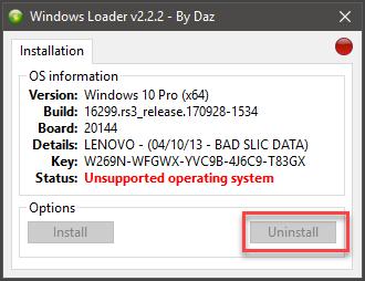 Windows Loader by DAZ 2 2 2 - скачать бесплатно активатор